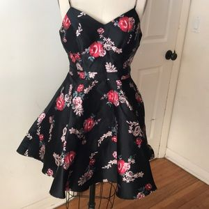 City Triangles floral party dress with bow 7 NEW